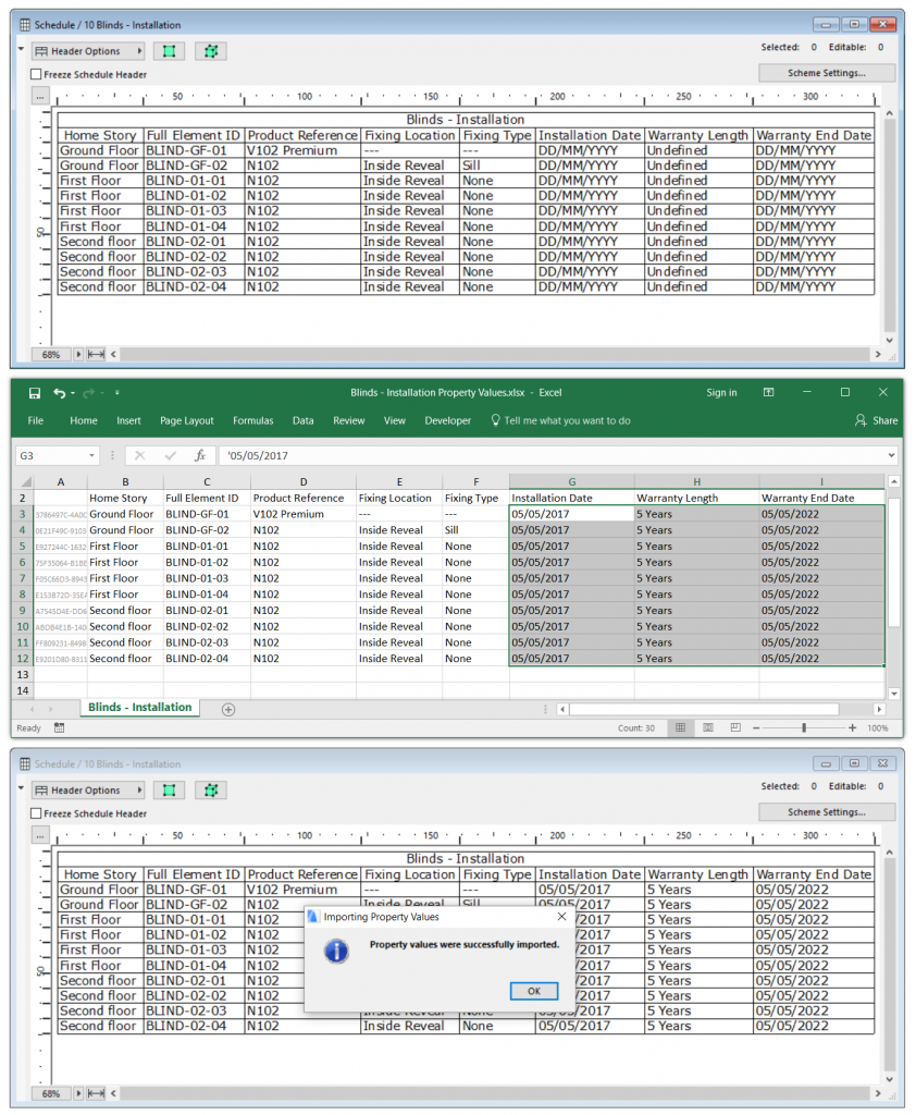 manufacturers data