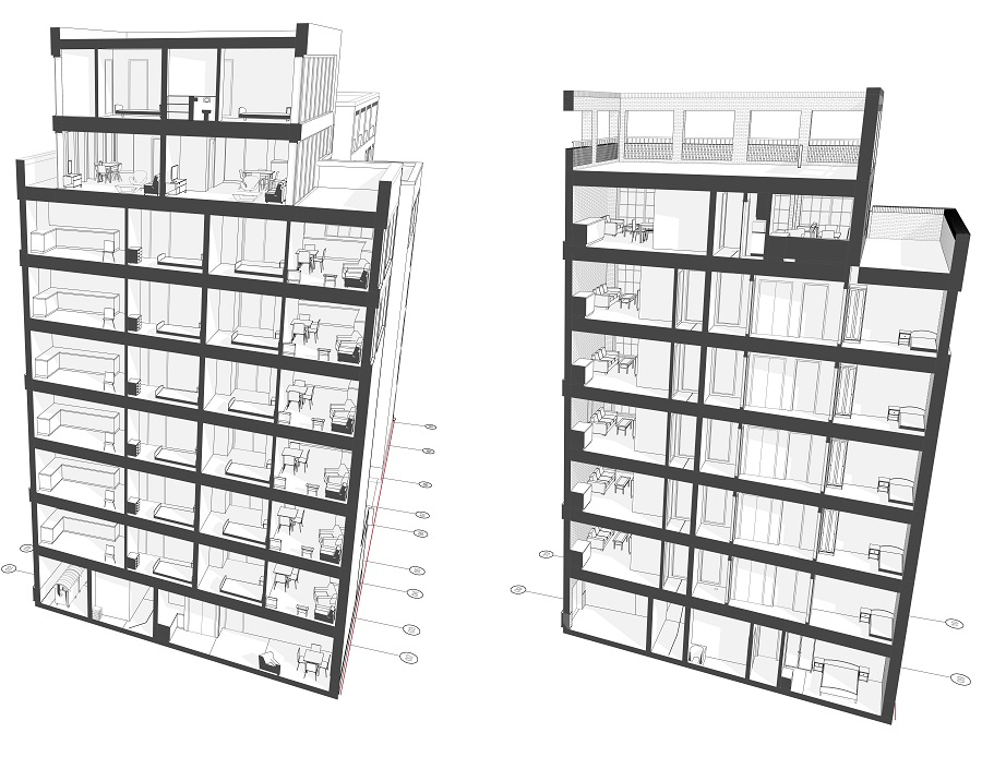 ARCHICAD 3D cut away