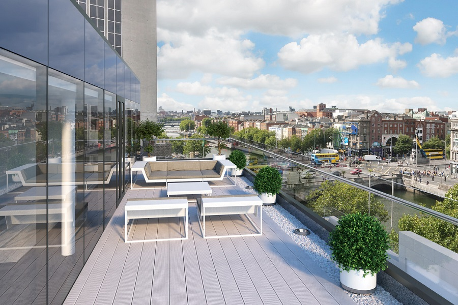 Exceptional Roof Top Terraces Occupiers will avail of two generously sized roof top terraces on the 5th and 6th floor which overlook cafes, bars, restaurants, retail and a wealth of public transport options.