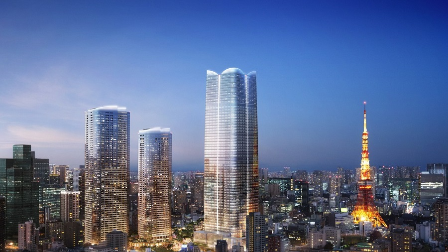 """Japans tallest Building within The Toranomon-Azabudai complex is envisioned as a """"city within a city,"""""""