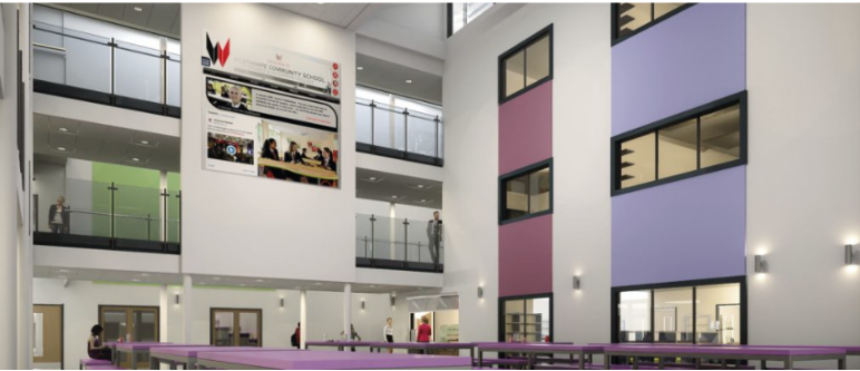 Internal Maber Project Wilsthorpe School situated in Long Eaton