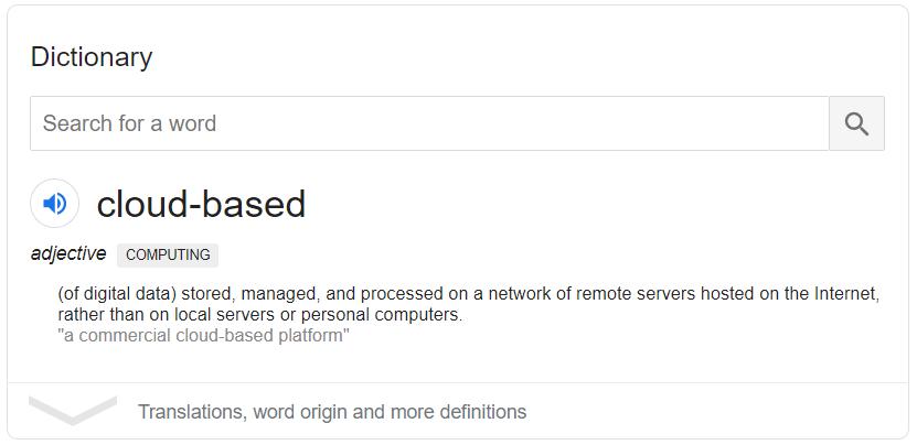 Cloud Based Working - Description
