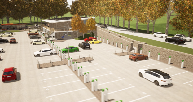 ArchiWildish - EV Charging Station in Twinmotion
